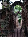 St John the Baptist Parish Church, Chester - remains of former east end east of present building 04.jpg