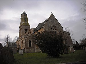 Bythorn - Parish church of St Lawrence, from the east