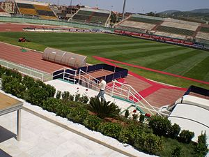 2016 CAF Confederation Cup Final - Stade Mustapha Tchaker in Blida, Algeria, hosted the first leg.