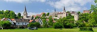 Warburg - Warburg city panorama with sights