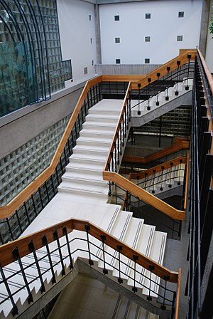 Concordia University Library - Image: Stairwell in the Vanier Library, Concordia University