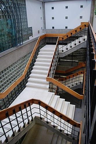 Concordia University Library - Image: Stairwell in the Vanier Library, Concordia University