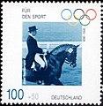 Stamp Germany 1996 Briefmarke Sport Josef Neckermann.jpg