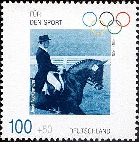 Stamp Germany 1996 Briefmarke Sport Josef Neckermann