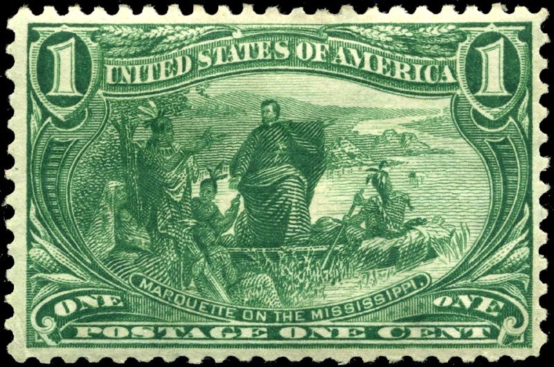 Stamp US 1898 1c Trans-Miss