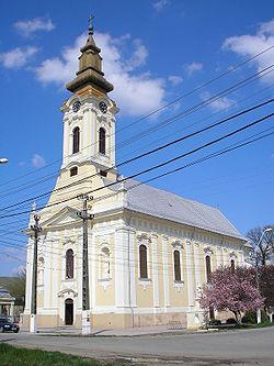 Banat Bulgarian Roman Catholic church in Dudeștii Vechi (Stár Bišnov)