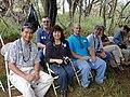 Starr-030409-0050-Cordyline fruticosa-fence blessing with Tri Isle crew-Puu o Kali-Maui (24003458383).jpg