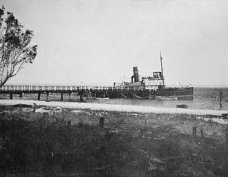 Bribie Island - Passenger steamship service, 1912