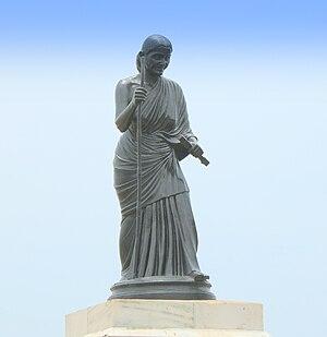Avvaiyar - Avvaiyar Statue in Marina Beach