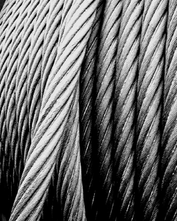 Wire rope rope made from wire