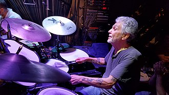 Steve Gadd - Steve Gadd playing with the brushes while watching Chick Corea during their show at the Blue Note, NYC on Friday, September 29, 2017.