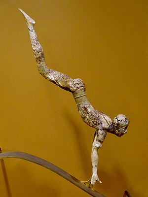 Heraklion Archaeological Museum - The bull leaper (c.1500 BC), an ivory figurine from the palace of Knossos.