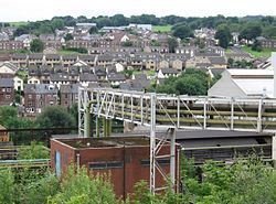 Stocksbridge - Leisure Centre from Steel Works.jpg