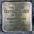 Stolperstein Heinrich-Roller-Str 23 (Prenz) Gertrud Glaser.jpg