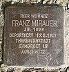 Stolperstein Janitzkystr 37 Franz Mirauer.JPG