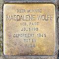 Stolperstein Madgadlene Wolff, Venloer Straße 268, Köln-2053.jpg
