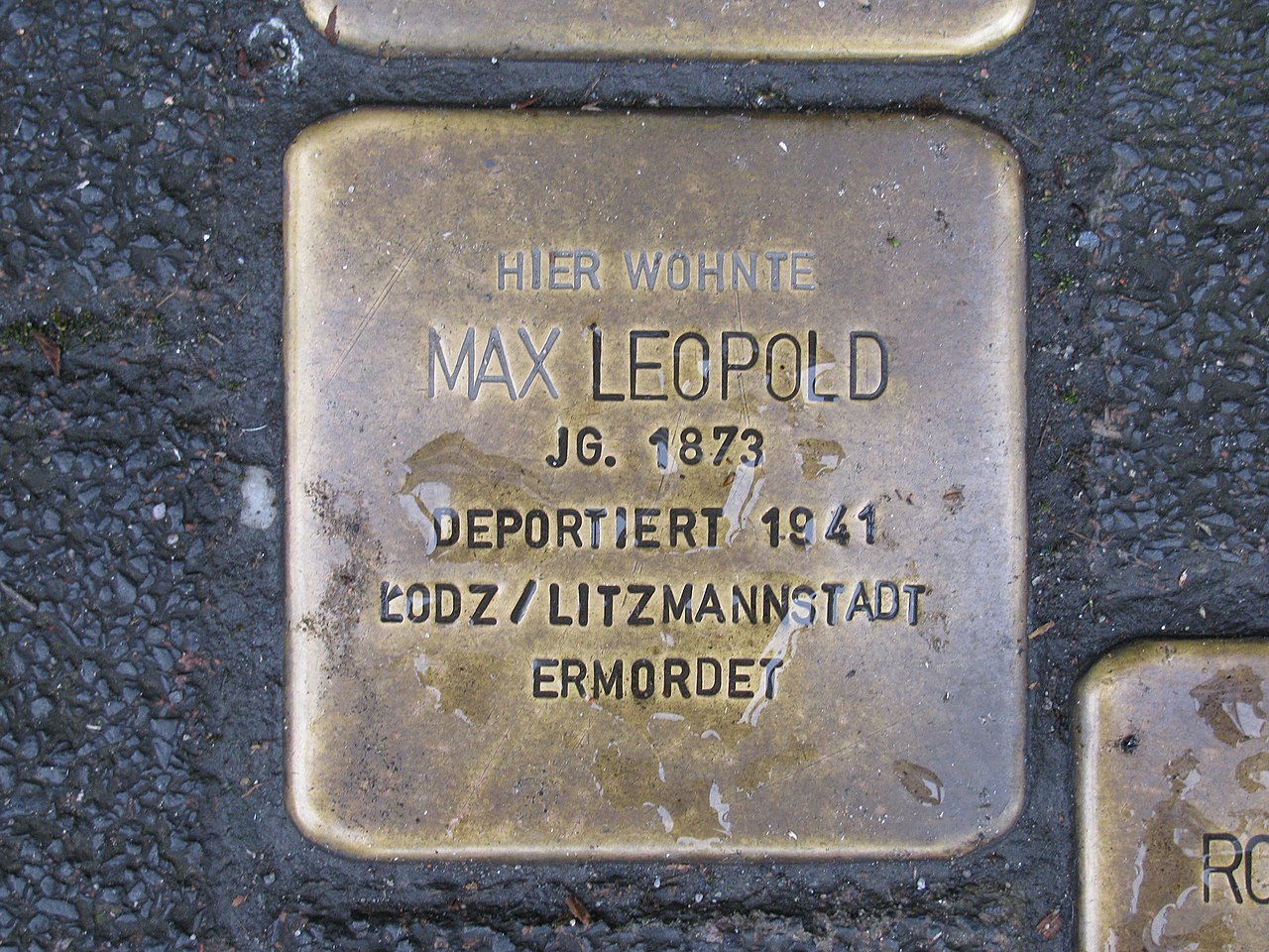 Stolperstein Max Leopold, 1, Schiede 28, Limburg an der Lahn, Landkreis Limburg-Weilburg.jpg