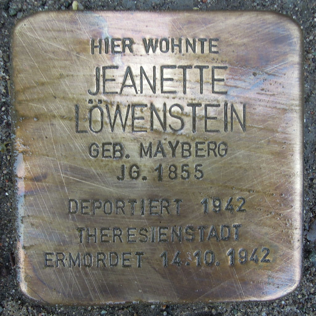 Stolperstein Rehburg-Loccum Mühlentorstraße 26 Jeanette Löwenstein