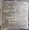 Stolperstein Schellendorffstr 31 (Schmd) Hans Goldmann.jpg