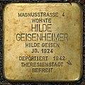 Stolpersteine Köln, Hilde Geisenheimer (Magnusstraße 4).jpg