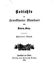 Gedichte in Frankfurter Mundart. Band 2