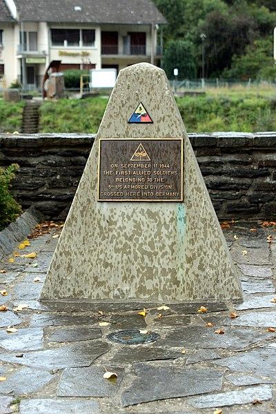 US-Monument op der Stolzber Bréck