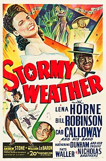 <i>Stormy Weather</i> (1943 film) 1943 American musical film directed by Andrew L. Stone