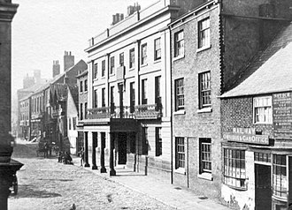George Heald - A picture of the Strafford Arms Hotel as it appeared at the end of the 19th century.  The hotel is still extant but much altered.