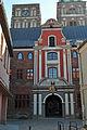 Stralsund, Ossenreyerstraße, Abzweig Ravensberger Straße, Rathaus (2012-04-06), by Klugschnacker in Wikipedia.jpg
