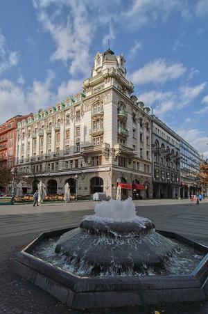 """Knez Mihailova Street - Knez Mihailova Street, corner with """"Ruski car"""" restaurant"""