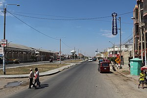 Lambayeque, Peru - Main street of Lambayeque