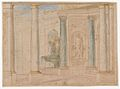 Studies for the trompe-l'oeil decorations of Palazzo Ducale (Palazzo Pitti), Florence MET DP870432.jpg