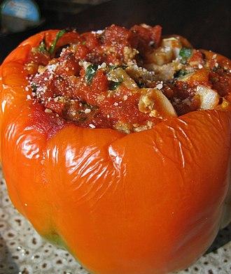 Stuffing - Stuffed orange pepper