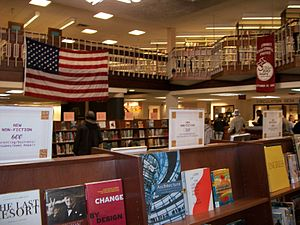 Inside the Summit Public Library, in the main ...
