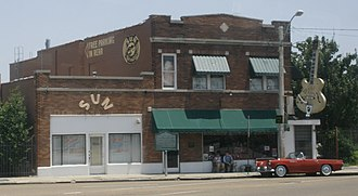Ike Turner - Sun Studio at 706 Union Avenue in Memphis, Tennessee, where in 1951 Turner and the Kings of Rhythm recorded Rocket 88, one of the first rock and roll records. Turner would later work at the studio as in-house producer for Sam Phillips.