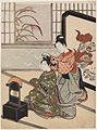 Suzuki Harunobu (1766) Zashiki Hakkei - Autumn Moon of the Mirror Stand - without Kyosen seal.jpg
