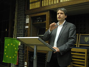 Sven Giegold - Sven Giegold MEP speaking about 'how to tame the bankers' at an event held by the Oxford University European Affairs Society in Trinity College, Oxford.