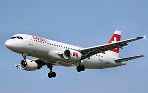 Airbus A320-200 of the  national carrier - Swi...