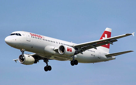 Airbus A320-200 of the  national carrier - Swiss International Air Lines.