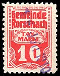 Switzerland Rorschach 1909 revenue 10c - 2.jpg