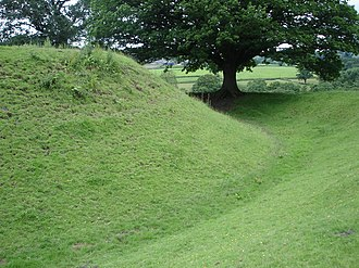 Margaret Hanmer - Sycharth, showing motte and moat