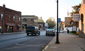 Syracuse, Indiana - Downtown, looking south.