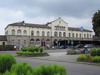 railway station in Tübingen, Germany