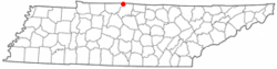 Location of Mitchellville, Tennessee