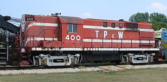 ALCO RS-11 - TPW 400, an RS-11 on display at Illinois Railway Museum, July 16, 2005.