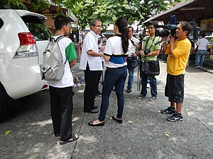 TV Patrol - Jasmine Romero and TV Patrol crew at Paco-Dilao Church