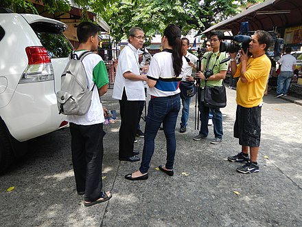 Jasmine Romero and TV Patrol crew at Paco-Dilao Church - TV Patrol