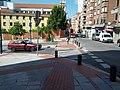 T intersection with median pedestrian refuge (18804868782).jpg