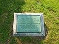 Tablet commemorating centennial of Boston & Lowell Railroad Corporation; Lowell, MA; 2011-08-20.JPG