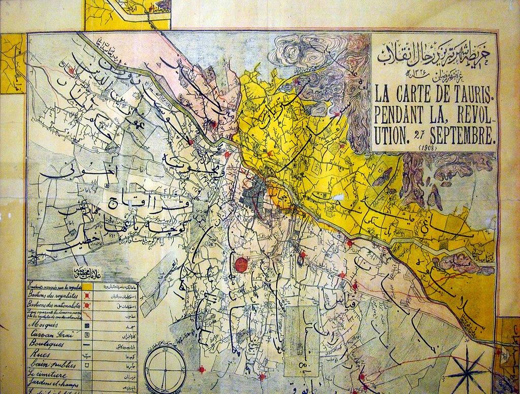 نقشه ی قدیمی تبریز